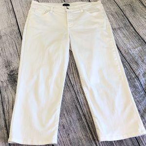 NYDJ, white denim crop capris, 12